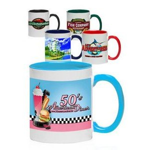 11 Oz. Bright Two-Tone Sublimation Mugs